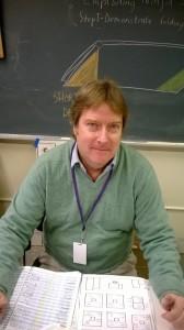 Mr. Greany, Art teacher.