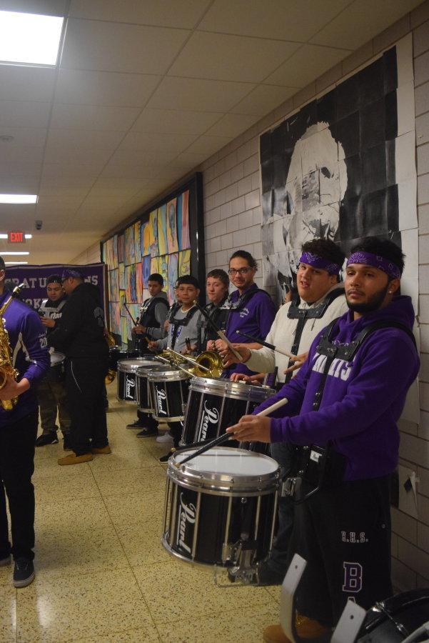 The Holyoke High School Band.