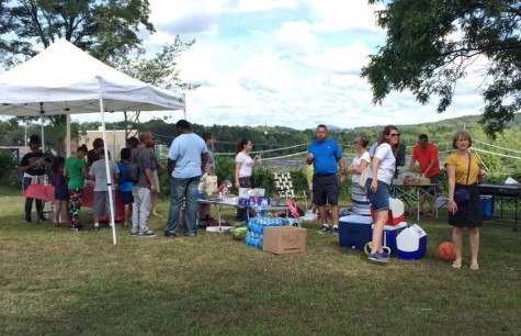 HPS teachers, parents, and students gather at Pulaski Park in Holyoke.