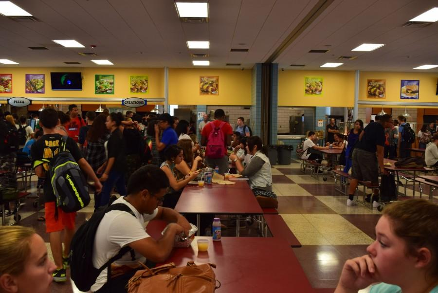 One of the changes that threw off returning HHS students the most: the new direction of the tables!