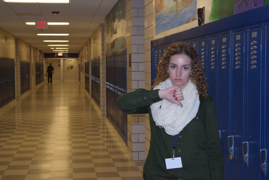 Senior Ana Diaz Moore is upset with the idea of having a homeroom on the first floor under the new system.