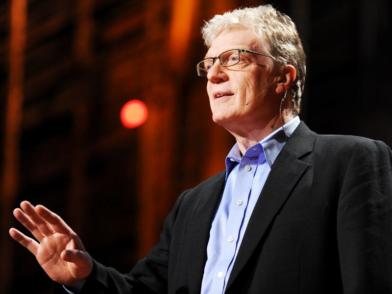 Sir Ken Robinson, advocate of the importance of the arts in schools.