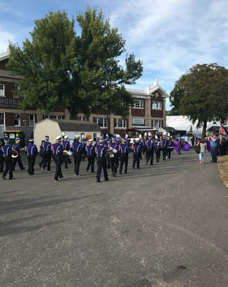 The Holyoke High band marches at The Big E on Holyoke Day.
