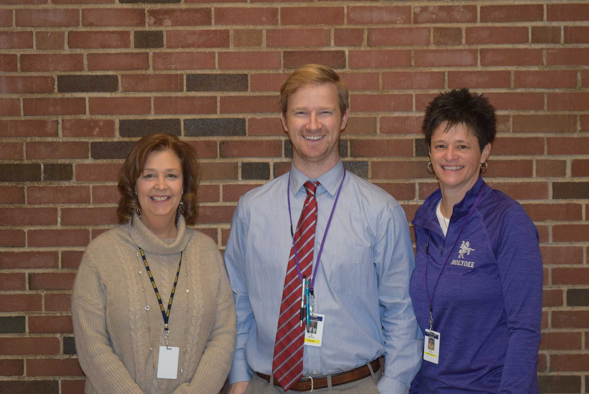 Mrs. Reardon, Principal Stephen Sullivan, and Athletic Director Melanie Martin (Photo Credits to Brendan Leahy)