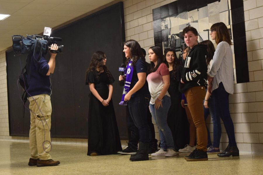 The Restorative Justice group is interviewed for Honor Roll Live ( photo credits to Liza Keane)