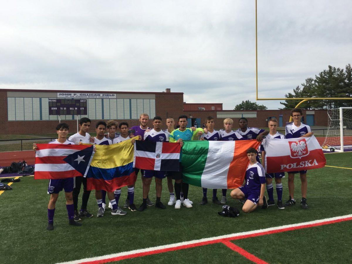HHS+Varsity+Soccer+Holds+Flags
