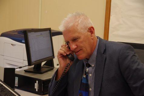 Mr. Brown begins his duties as Holyoke High principal. (photo credit: Bella Courchesne)