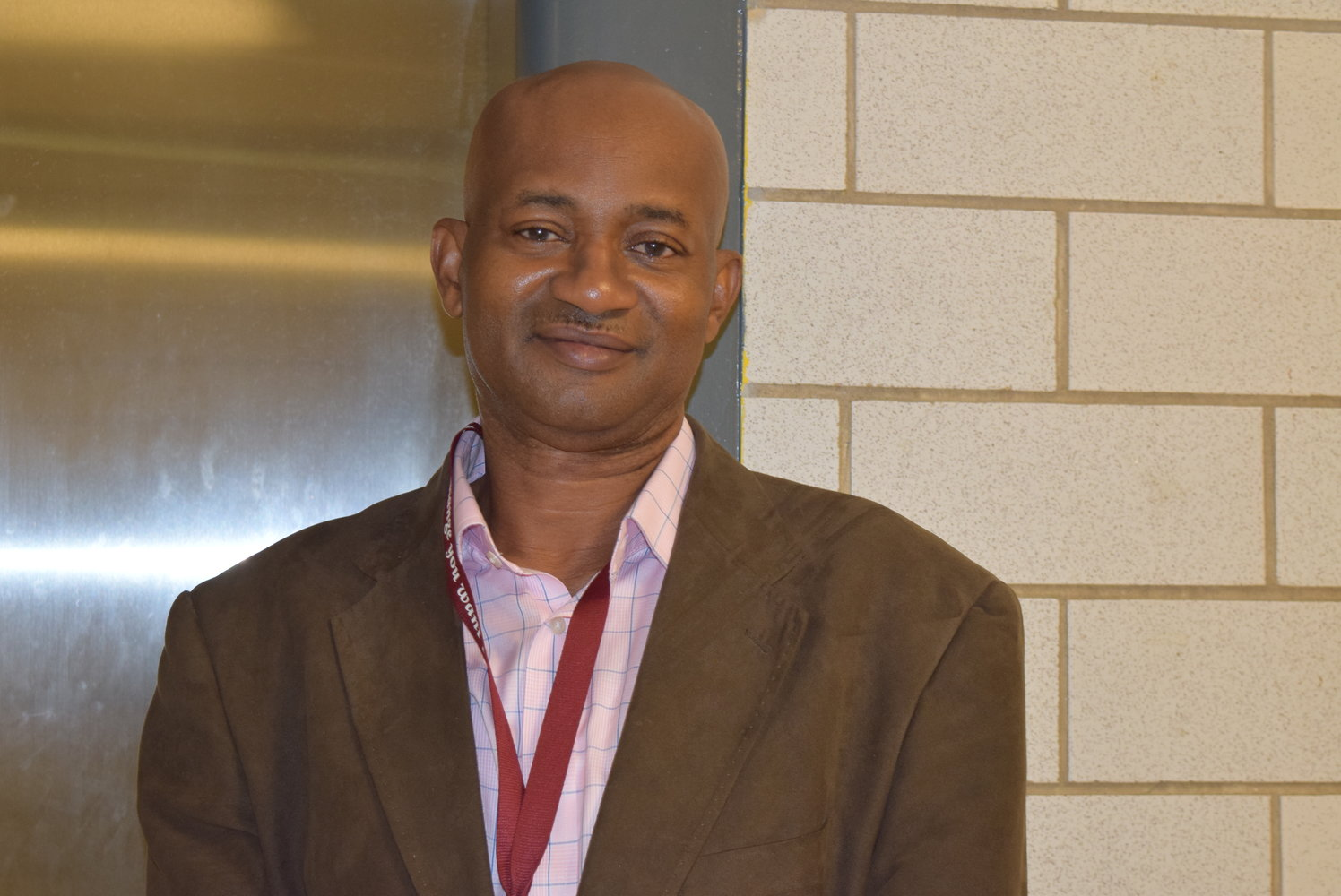 Mr. Ukandu joins the ranks of the HHS faculty. (Photo Credit: Liza Keane)