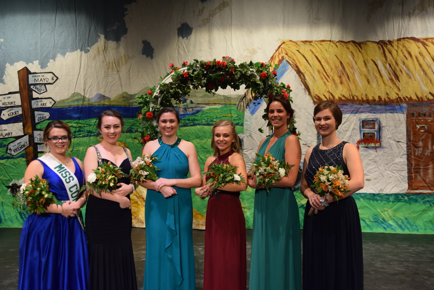 Holyoke 2018 Miss Congeniality and colleen finalists: Brenna Fogarty, Bridget Higgins, Carly Costello, Kassidy Lawrence, Madelynne Kelleher, and Erin Hebert.